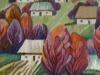 Осіннє село. 2010 р., 100-100, вовна, ручне ткацтво