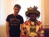 Андрій з народним майстером зі спільноти уічолів