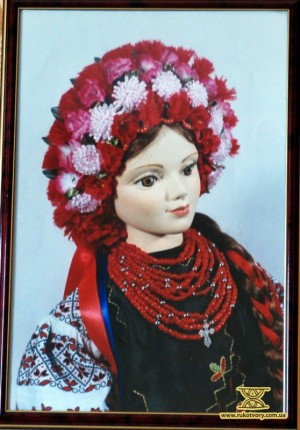 Портрет Катерини (вишивальниці). Середня Наддніпрянщина (Центральна Київщина)