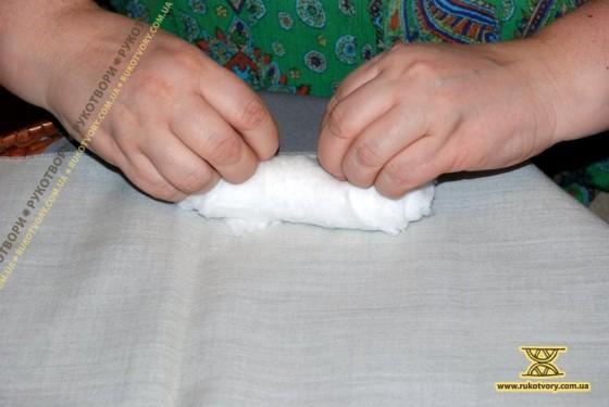 Різдвяний ангел з текстилю