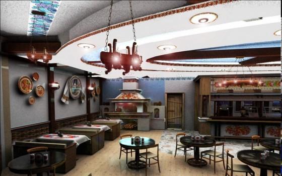 Інтрер'єр кафе в аеропорті Бориспіль