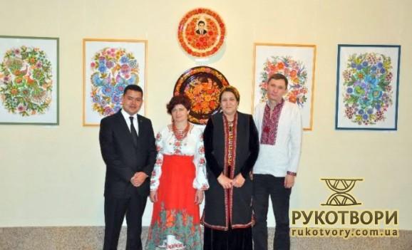 Туркменам показали Петриківський розпис