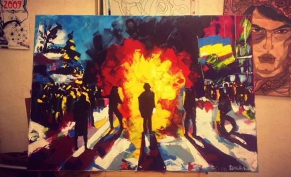 «Ніколи не забуду, як хвиля від вибуху йде крізь тіло» — живописці на барикадах