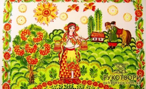 Виставка петриківського розпису Вікторії Тимошенко