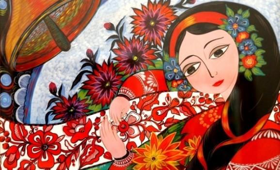 Декоративний розпис Людмили Вітковської. Відкрилася виставка в Чернігові