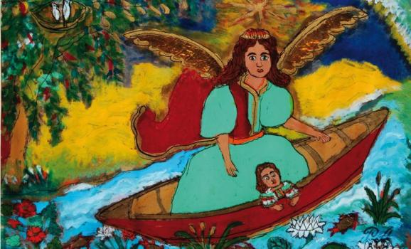 Виставка живопису на склі Анастасії Рак «З янголом у човні»