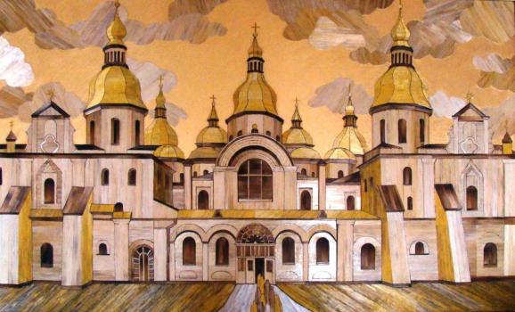 Персональна виставка панно з соломи художниці Ольги Денисюк