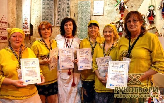 Українські майстри отримали подяки за участь у фестивалі