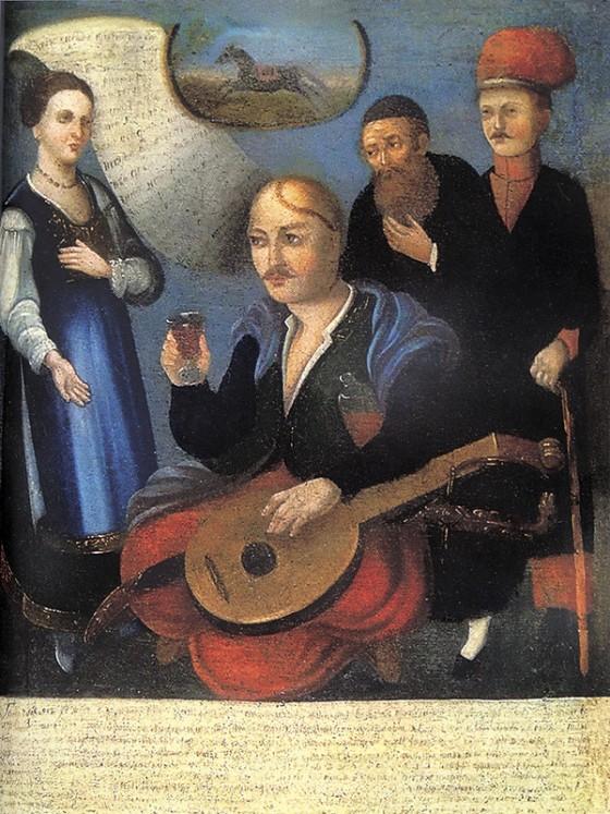 Картина «Козак Мамай» із колекції Національного художнього музею України.
