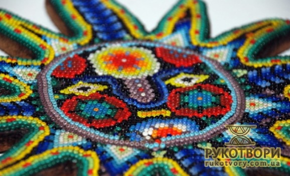 Beads are sacred for Huichol Indians