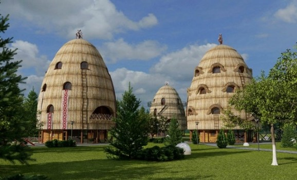 A haystack-shaped hotel has become the winner of the all-Ukrainian design contest