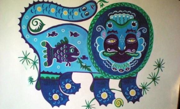 Майстриня Ольга Отнякіна намалювала міфічних звірів для футболок