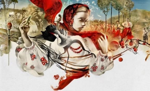 Українські мотиви в ілюстраціях російського художника Олексія Курбатова