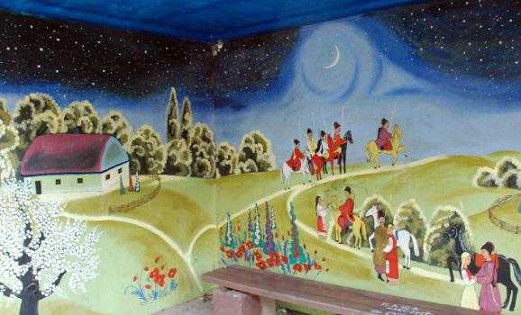 На Київщині місцева художниця розмалювала всі зупинки села