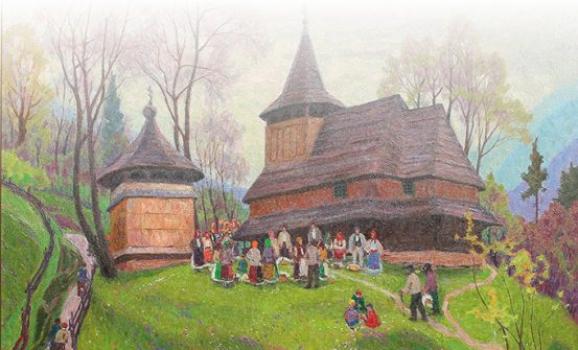 Виставка МОТИВИ НАРОДНОЇ АРХІТЕКТУРИ у творах Михайла Романишина