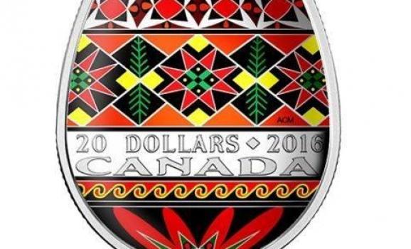 У Канаді випустять срібну монету у формі української писанки
