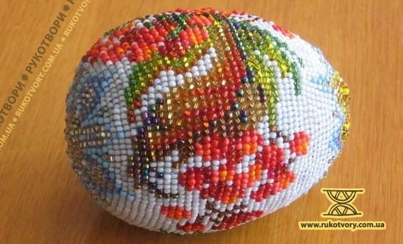 Бісерне плетіння пасхальних яєць. Майстер-клас